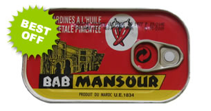 Bab Mansour Canned Sardine Fish in vegetable oil and spices