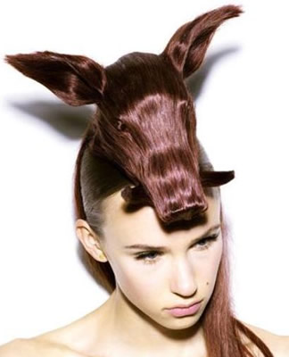 Incredible animal hair hats by Nagi Noda